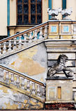Baroque palace details. Wall, lion, stairs Royalty Free Stock Photography