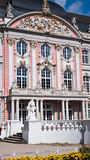 Baroque Palais in Trier, Germany. Kurfurstliches Palais in Trier. Left, the constantin basilica Stock Photo