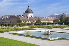 Baroque park at the Belvedere Castle in Vienna Stock Image