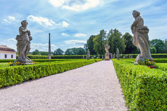 Baroque park garden statues, state Kuks hospital spa chateau Royalty Free Stock Image