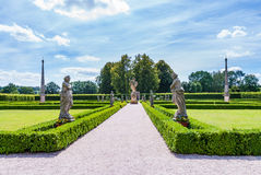 Baroque park garden statues, state Kuks hospital spa chateau Royalty Free Stock Photo