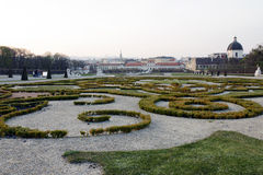 The Baroque park landscape of Belvedere Royalty Free Stock Photography
