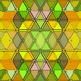 Baroque pattern of continuous triangles texture in yellow and green. Colorful mosaic background. Baroque pattern of continuous triangles texture in yellow and vector illustration