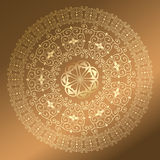 Baroque pattern round gold Stock Photos