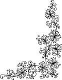 Baroque Pattern vignette. Eau-forte black-and-white swirl pattern decorative  illustration Royalty Free Stock Photos