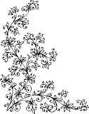 Baroque Pattern vignette XCI. Baroque vignette 91. Eau-forte black-and-white swirl pattern decorative  illustration Royalty Free Stock Photography