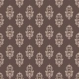 Baroque pattern wallpaper damask seamless coffee and cream stock illustration