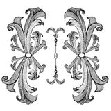 Baroque_pattern03 Stock Photography
