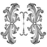 Baroque_pattern03 Fotografia de Stock