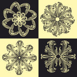 Baroque_pattern04 Stock Images