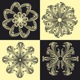 Baroque_pattern04 Imagens de Stock