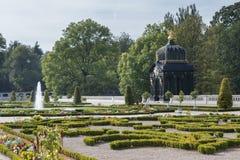 Baroque pavilion in Branicki gardens, Bialystok, Poland. A trellised gazebo in the gardens of Branicki Palace. Bialystok, Poland stock photography