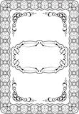 Baroque perfect nice frame Stock Images