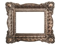 Baroque picture frame isolated on white background. Vintage baroque style picture frame. Design elements isolated on white background. Isolation is on a royalty free stock photos