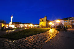 Baroque plaza - nightfall Stock Images