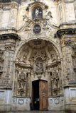 Baroque portal. Of a cathedral in San Sebastian in Basque country, Spain royalty free stock photo