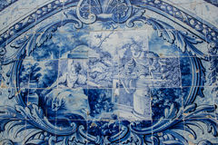 Baroque Portuguese tiles Royalty Free Stock Images