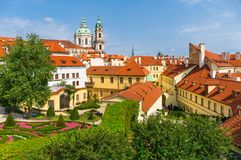 The baroque quarter Mala Strana in Prague. View over the baroque quarter Mala Strana in Prague, Czech Republic Royalty Free Stock Image