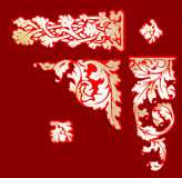 Baroque Red Gold Clip-art. Royalty Free Stock Photo