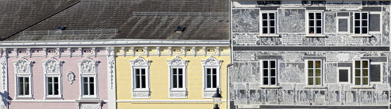 Baroque and renaissance facades Stock Photos