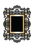 Baroque Rococo Mirror frame decor. Vector French Luxury rich carved ornaments and Wall Frames. Victorian Royal Style frame Royalty Free Stock Photography