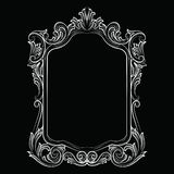 Baroque Rococo Mirror frame decor. Vector Luxury Rich carved Frame. Victorian Style frame Royalty Free Stock Images