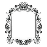 Baroque Rococo Mirror frame decor. Vector Luxury Rich carved Frame. Victorian Style frame Royalty Free Stock Image