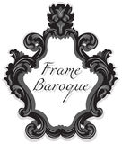Baroque Rococo Mirror frame set. Vector French Luxury rich carved ornaments and Wall Frames. Victorian wealthy Style frame Royalty Free Stock Photography