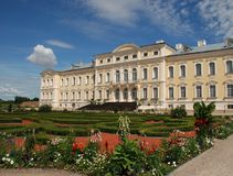 Baroque - Rococo style palace. Rundale Palace is one of the most outstanding monuments of Baroque and Rococo art in Latvia. It was built between 1736 and 1740 as Stock Photography