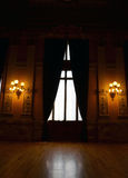 Baroque room with a great window. A fantastic room with baroque decoration and a big window Stock Photos