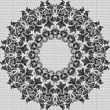 Baroque round vintage lace background Stock Images