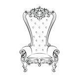 Baroque royal armchair Royalty Free Stock Photo