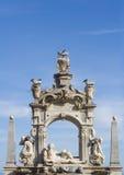 Baroque sculpture fountain stock image