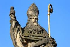 Baroque Sculpture from Prague Charles Bridge, Czech Republic Royalty Free Stock Photography
