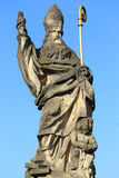 Baroque Sculpture from Prague Charles Bridge, Czech Republic Royalty Free Stock Images