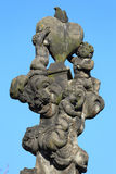Baroque Sculpture from Prague Charles Bridge, Czech Republic Royalty Free Stock Photo