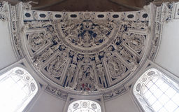 Baroque sculptures on Ceiling in Cathedral of Trier Royalty Free Stock Photography