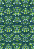 Baroque Seamless Pattern. A vintage baroque seamless pattern Royalty Free Stock Image