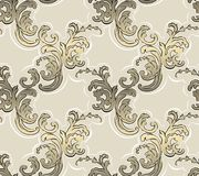 Baroque seamless pattern. Classical luxury old fashioned classic ornament, royal victorian seamless texture for wallpapers, textile, wrapping. Exquisite floral royalty free illustration