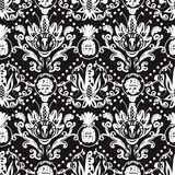 Baroque Seamless Pattern Vector Stock Images