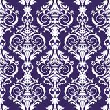 Baroque seamless pattern, vector illustration Stock Image