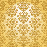 Baroque seamless plastic pattern Royalty Free Stock Photo