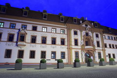 Baroque seat of Thuringia government. At night, Erfurt, Germany Royalty Free Stock Images