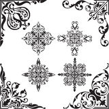 Baroque set of corners Royalty Free Stock Photo