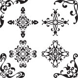 Baroque set of elements Stock Images
