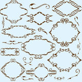 Baroque set of nice elements Stock Photography