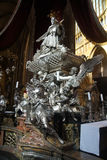Baroque silver tomb of St John of Nepomuk royalty free stock images