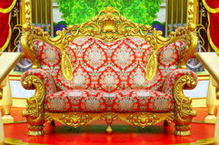 Baroque sofa with golden frame Royalty Free Stock Images