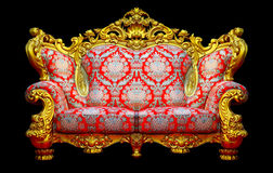 Baroque sofa with golden frame Royalty Free Stock Image