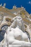Baroque sphinx statue bust  Belvedere Castle Vienna Austria Euro Stock Images
